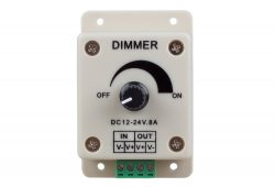 Rotary Type LED Dimmer for 12V/24V LED Strip light in Single Color