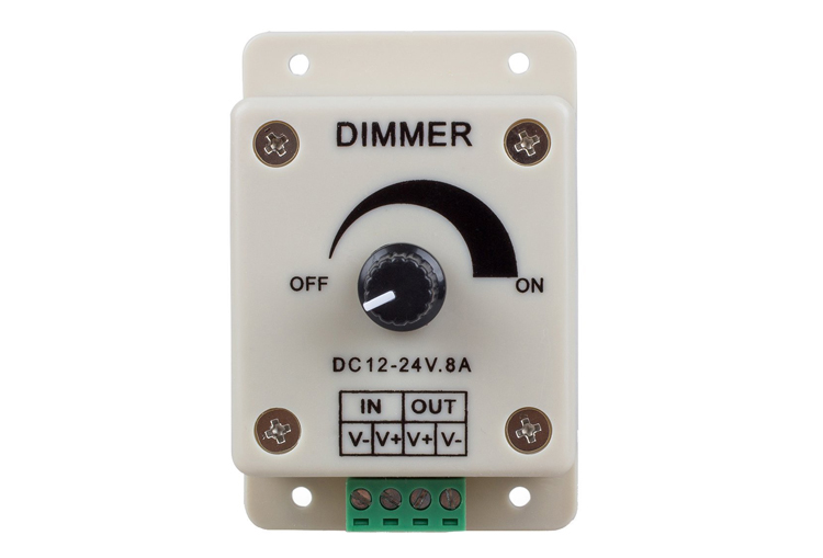 Rotary Type LED Dimmer for 12V/24V LED Strip light in Single Color_1