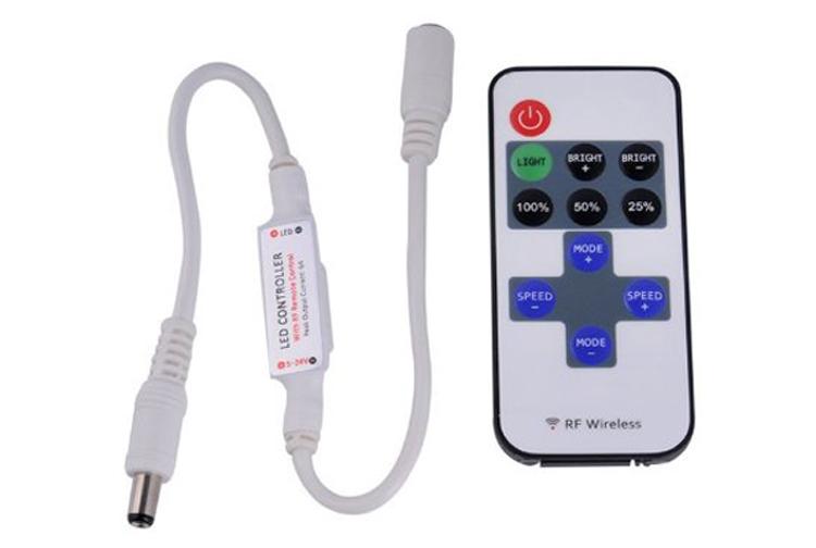 Wireless Mini Dimmer for Single Color 12V/24V LED Strip Light_1