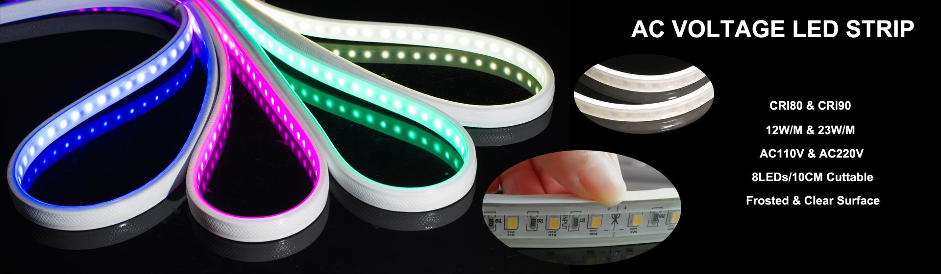 110v 220v 230v 240v High Voltage LED Strip Lights Manufacturer ...