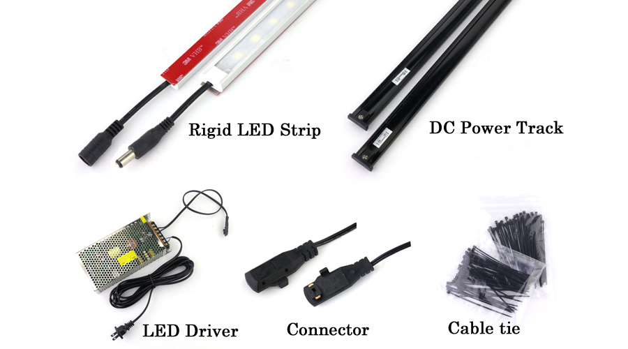 led strip light dc power track