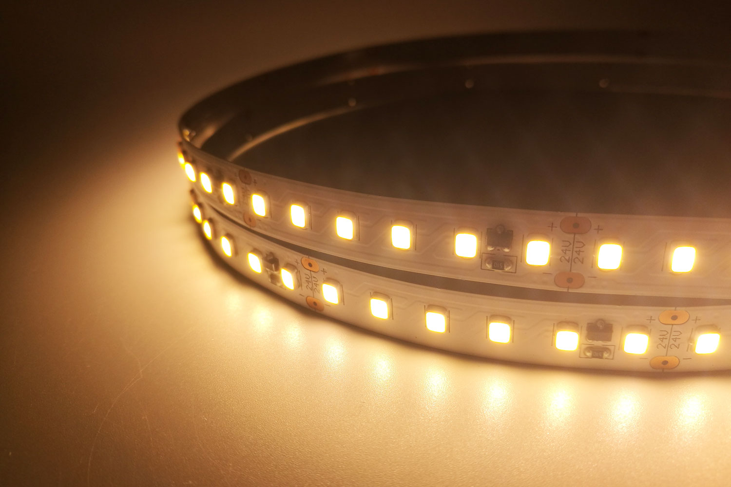 2835 24V Warm White Color Constant Current LED Strip Lights