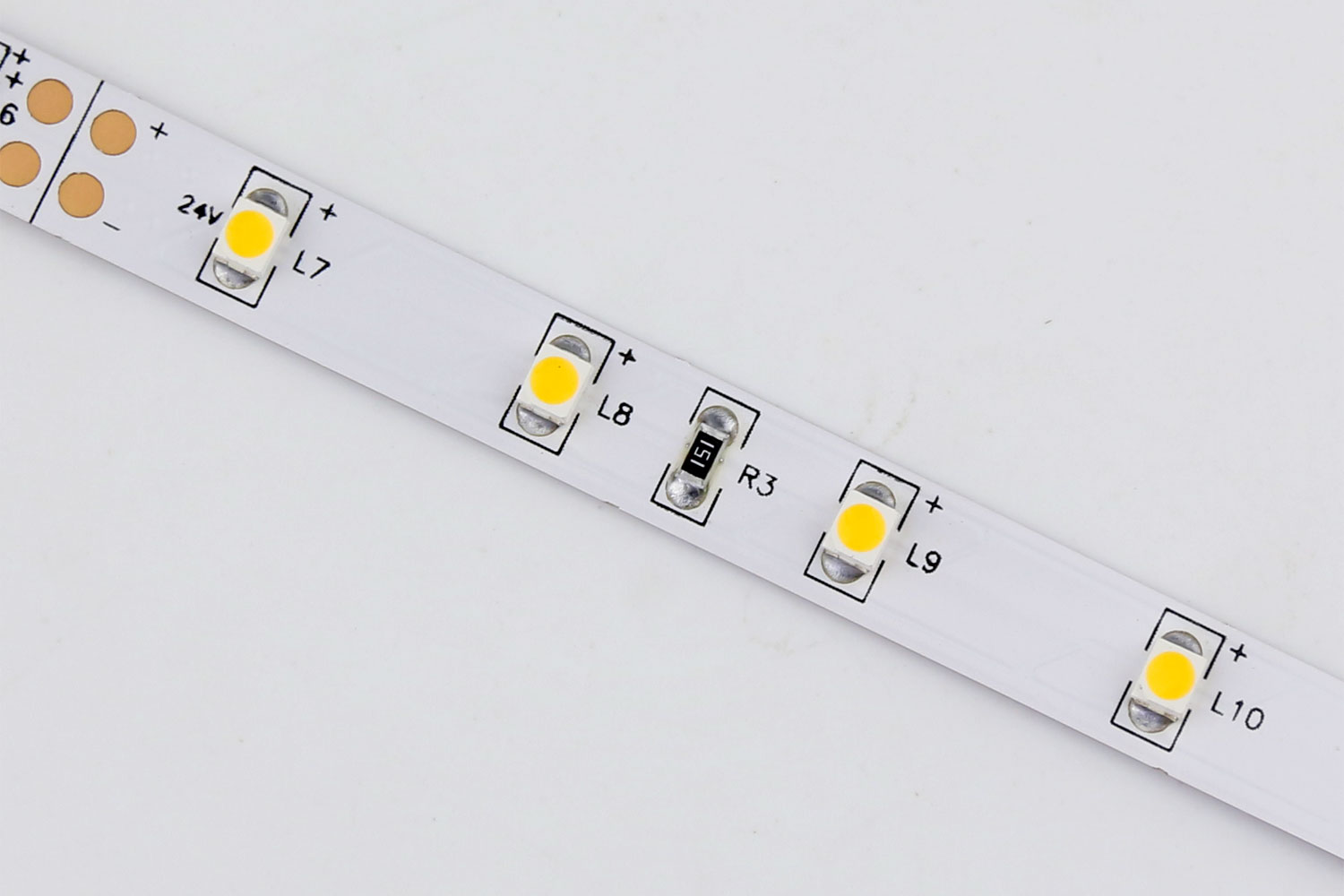 3528 60leds/m 24V Warm White Color LED Strip Lights