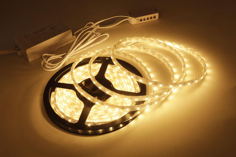 3528 12V Warm White Color IP67D Waterproof LED Strip Lights