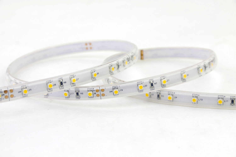 3528 60leds/m 12V Warm White Color IP67D Waterproof LED Strip Lights