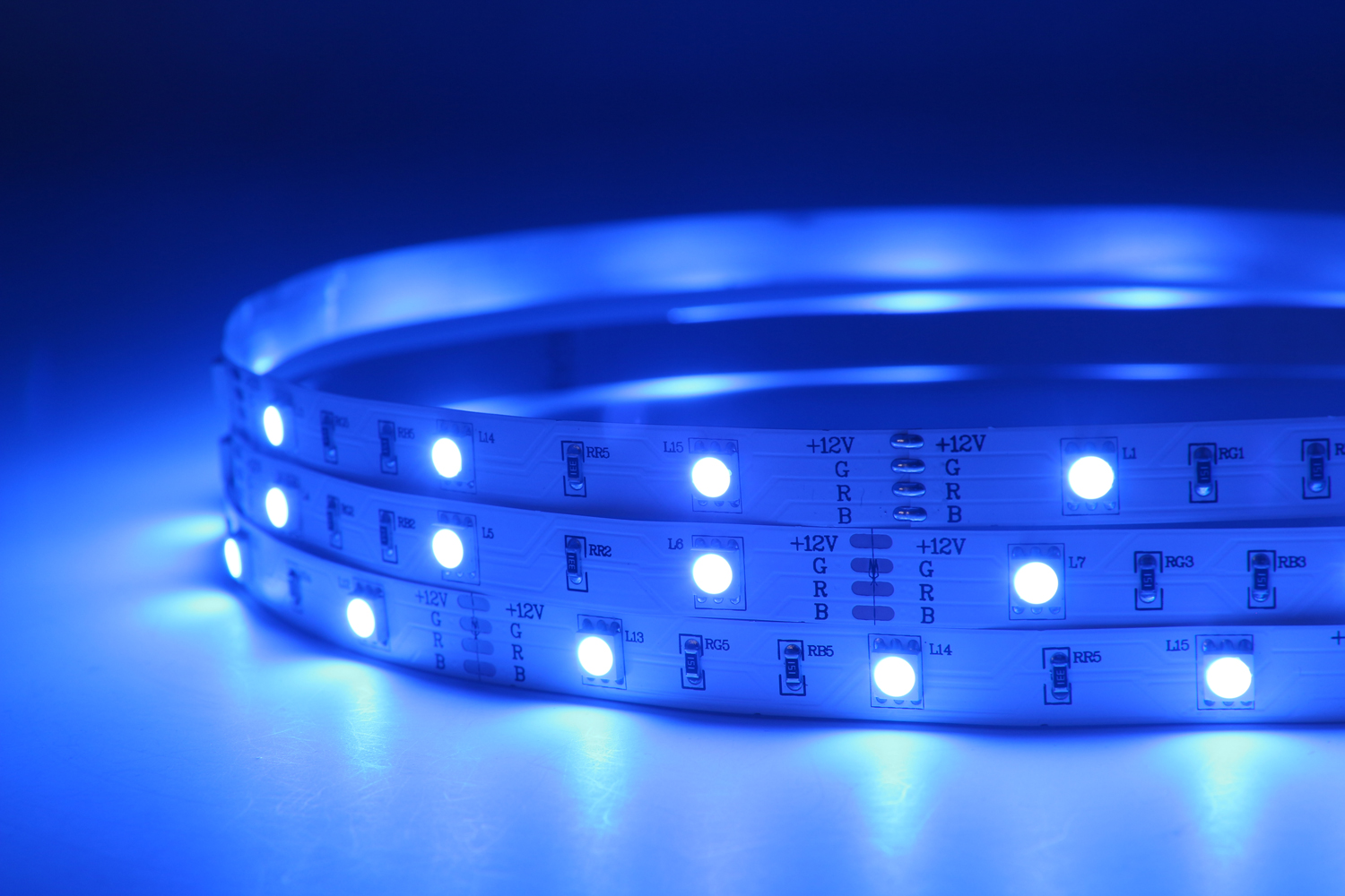 5050 30leds/m 12V RGB Color LED Strip Lights