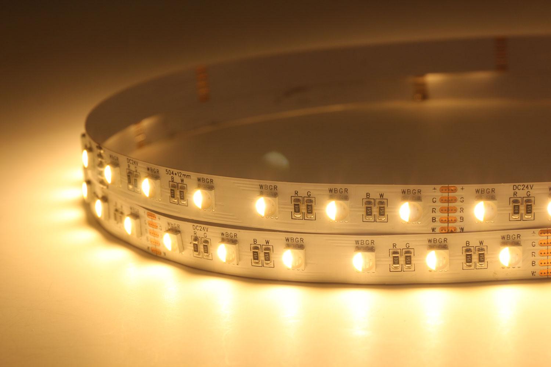 5050 60leds/m 24V RGB+Warm White Color LED Strip Lights