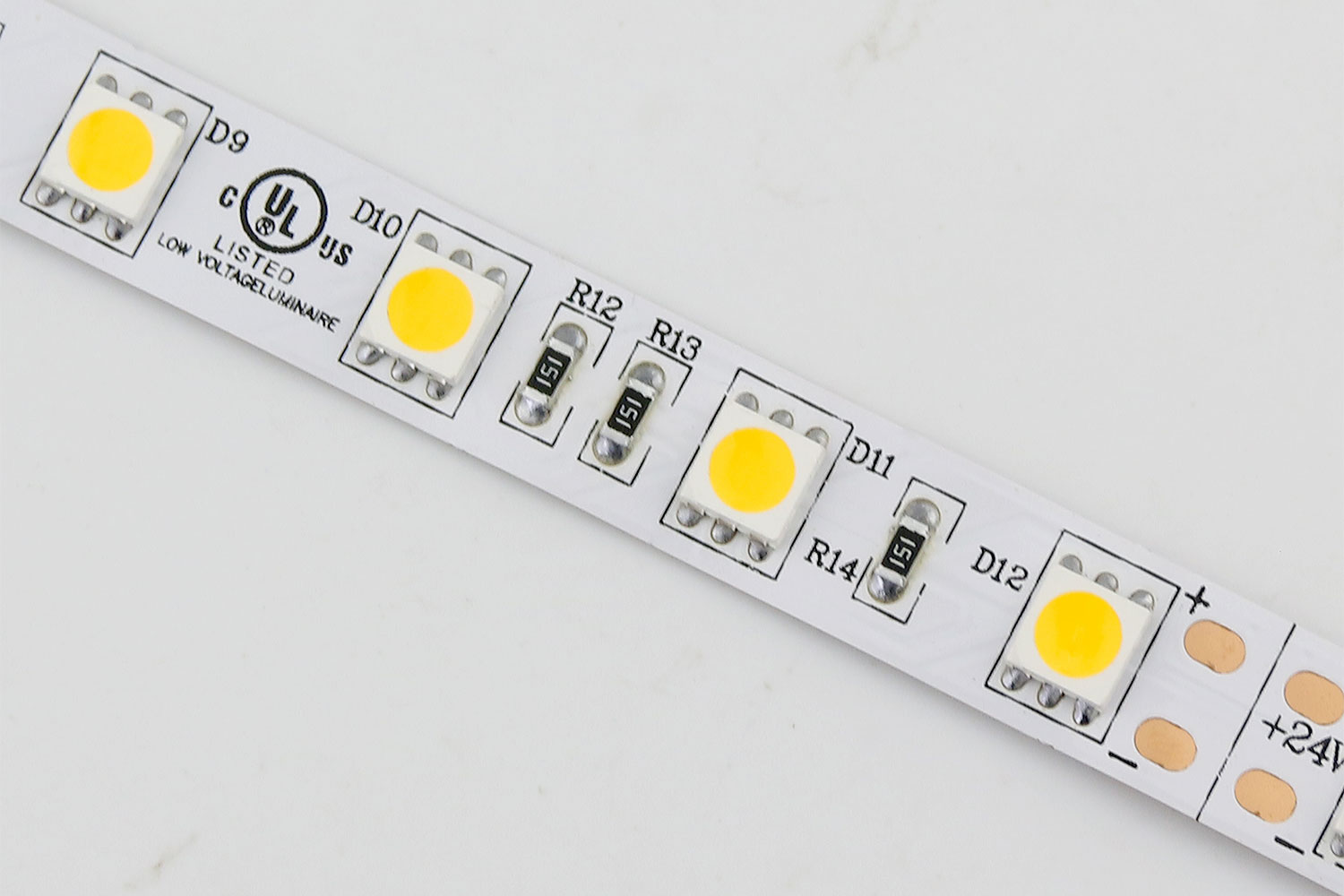 5050 60leds/m 24V Warm White Color LED Strip Lights