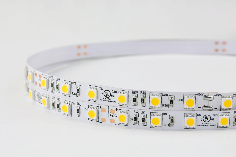 5050 60leds/m 24V Warm White Color LED Strip Lights