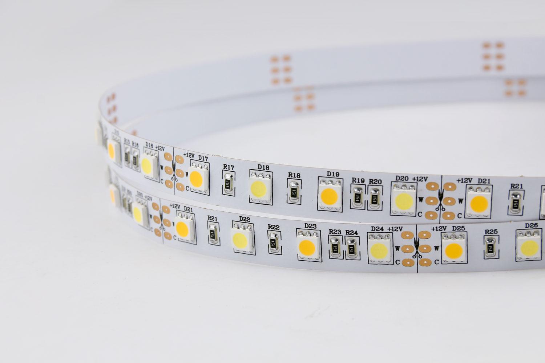 5050 60leds/m 12V White+Warm White Color LED Strip Lights