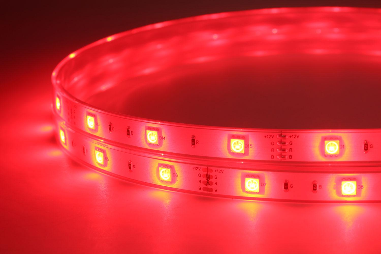 5050 30leds/m 12V Waterproof RGB Color LED Strip Lights
