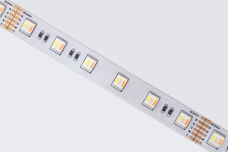 5050 60leds/m 24V RGB+White+Warm White Color RGBCCT LED Strip Lights