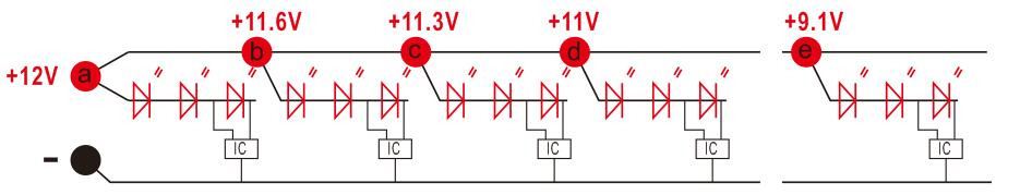constant current led strip circuit