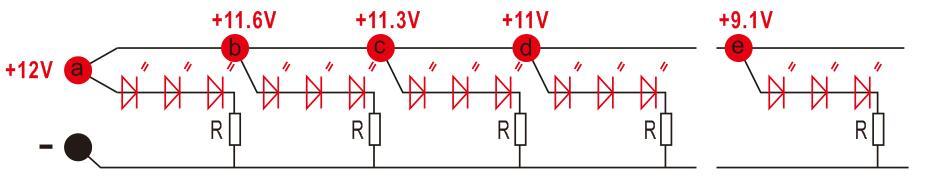 constant voltage led strip circuit
