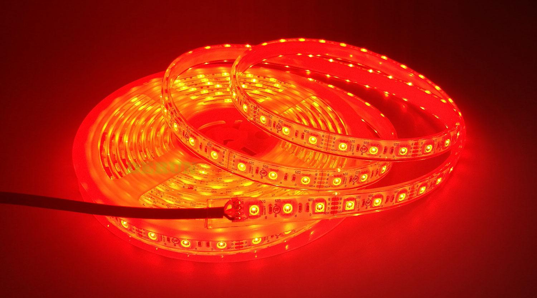 5050 60leds/m 24V RGB Color IP68 LED Strip Lights