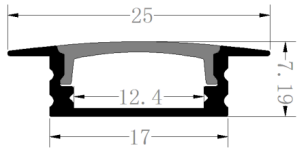 led aluminum profile extrusion channel track for led strip light