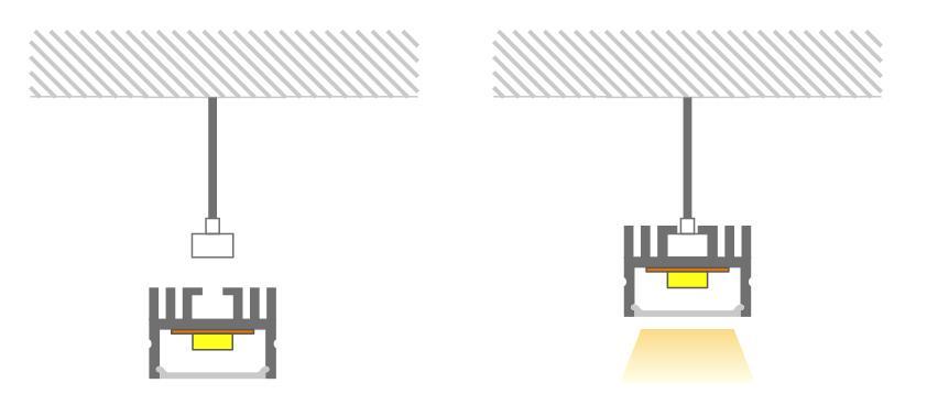 led aluminum profile install method