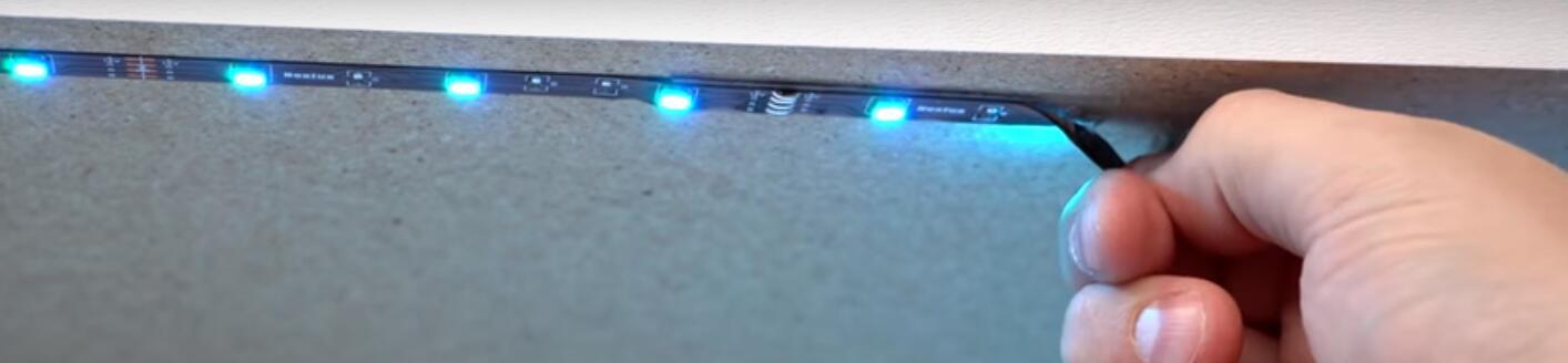 La mejor solución para tiras de luz LED que caen
